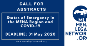 Call for Abstracts: States of Emergency in the MENA Region and COVID-19