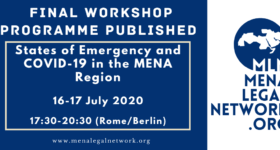 Final Workshop Programme Published: States of Emergency and COVID-19 in the MENA Region